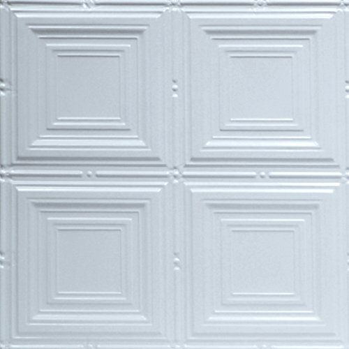 Shanko W320DA Pattern 320 Pressed Metal Wall and Ceiling Tiles, 20 sq. ft. , White, 5 (320 Wall)