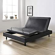 Classic Brands Adjustable Comfort  Posture+ Adjustable Bed Base with Massage, Wireless Remote, and USB Ports, Twin XL, Black