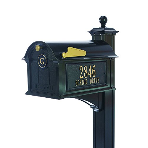 Balmoral Streetside Monogram Mailbox-Post Package (Streetside Mailbox Package)