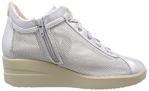 Argento Argento Sneakers Line Argegno 226 Zeppa Ruco Donna Agile Japan beige Con gxHzwnqRnO
