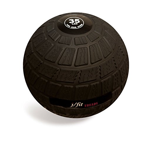 j/fit TREADS Dead Weight Slam Ball with Easy-Grip Textured Surface, 35 lb