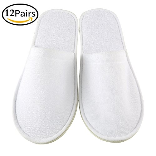 amp; Use White Toweling Perfect Comfortable for Xiaofeisi Non Open Pairs Or Disposable Slippers Slip Toweling1 Slippers Commercial Bulk Hotel Unisex 6 Men for Spa Home Women qwS7wHFv