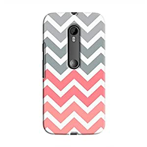 Cover It Up - Pink and Grey Jagged Moto G3Hard Case