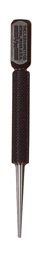 Starrett 800A Square-Head Nail Set Punch, 4'' Length, 1/32'' Punch Diameter