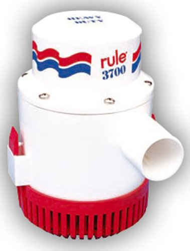Rule 14A 3700 GPH Heavy Duty Bilge Pump, Non-Automatic, 12 Volt , White/Red