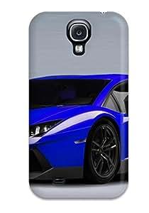 Galaxy S4 Case Slim Ultra Fit Lamborghini Aventador Blue Protective Case Cover