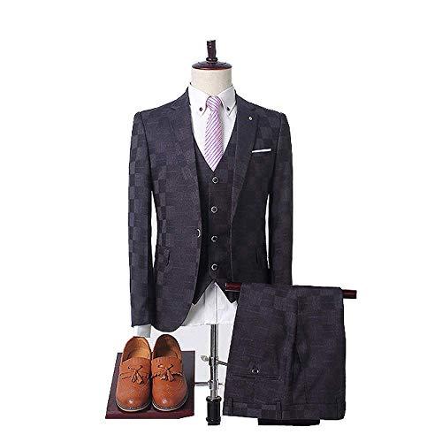 Décontracté Costume Approprié Banquet Du Robe Trois Hommes Pour Black De La Mariée D'affaires Version Xdljl Pièces Coréenne Eqxwd4zYqn