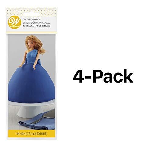(Wilton Bulk BuyTeen Doll Pick Cake Decoration 7 3/4 inch 1 pack Blonde W2815-102 (4-Pack))