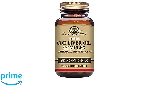 Solgar Super Cod Liver Oil Complex Cápsulas blandas - Envase de 60: Amazon.es: Salud y cuidado personal