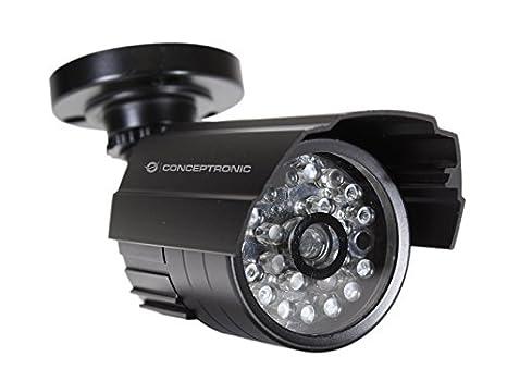 Conceptronic CFCAMOIR - cámaras de Seguridad ficticias (Bullet, Interior y Exterior, Negro,