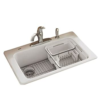 American Standard Lakeland Dish Rack  Stylish Yet Functional Utensils Holder  For Your Kitchen Sink