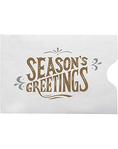Corporate Holiday Gift - Credit Card Sleeve Envelopes (2 3/8 x 3 1/2) - Seasons Greetings! (250 Qty.) | Perfect for the HOLIDAYS, Gift Cards, Credit Cards, Debit Cards, ID Cards and More! | 1801-H02-250
