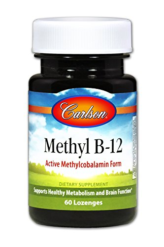 Carlson Vitamin B-12 (Carlson Methyl B-12 1,000 mg, Methylcobalamin, Optimal Absorption, 60 Tablets)