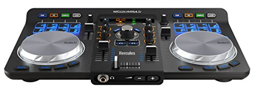 Hercules Universal DJ | Bluetooth + USB DJ controller with wireless tablet and smartphone integration w/ full DJ Software DJUCED - Cable Unlocking Usb