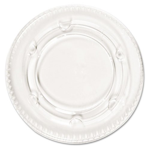 Boardwalk Portion Cup Lids, Fits 1.5-2.5oz Cups, Clear - Includes 24 sleeves of 100 lids each.