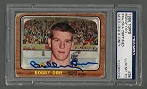 BOBBY ORR SIGNED TOPPS 1966 BRUINS ROOKIE CARD #35 PSA/DNA Auto GEM MINT 10 RC
