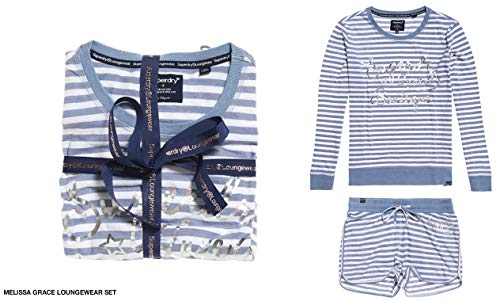 Blue Pijama Superdry Grace Multicolor Loungewear Melissa Yh9 Para Stripe Mujer Set ash ISIqFwz