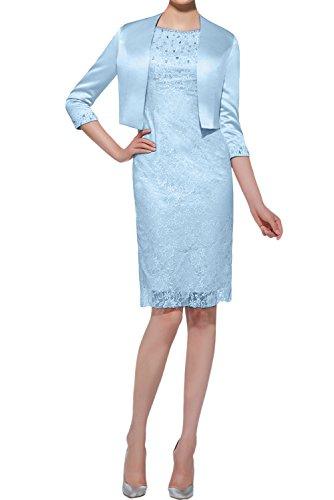 Bolero Ballkleid Spitze Festkleider Mit Abendkleider Mutterkleid Kurz Elegant Himmelblau Damen Ivydressing qwpxCZaIx