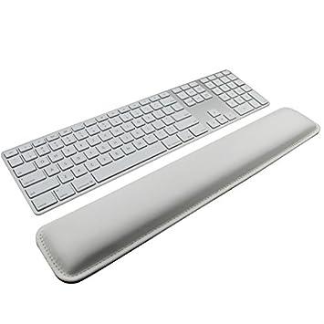 Reposamuñecas, diseño de teclado Wrist Rest Pad, cuero PU soporte de Palm Wrist Pad Cojín de Muñeca para Laptops/Notebooks/Macbooks//PC/ordenador: ...