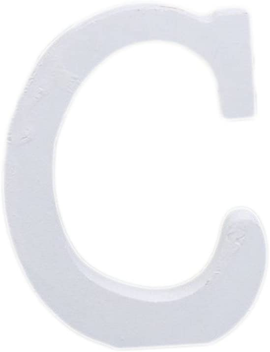 Cosanter 1x Alfabeto Ingl/és Moderno 26 Letras Blanco Madera Casa Fiesta Decoraci/ón de la Boda de Tiro de Alta 8cm C