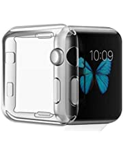 Soft TPU Gel Clear Protective Cover Case for Apple iWatch Series 5& 4, 44mm
