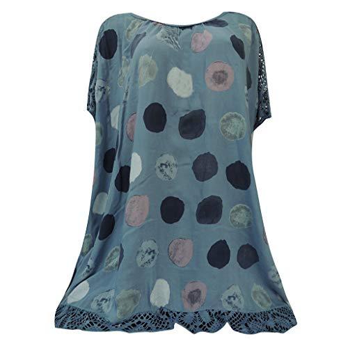 (YKARITIANNA 2019 Dot Pattern Women Fashion Strapless Tops Hollow Out Short Sleeve Blouse Casual T-Shirt)