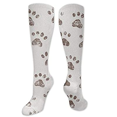 MSONNET Dog Paw Print Footprints 3D Printing Cool Athletic Socks Sports Socks Compression Socks Football Socks Long Socks Knee High Socks for Boys Girls Kids Toddler