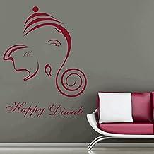DreamKraft Happy Diwali Wall Decor Art Stickers Vinyl Decals Home Decor for Living Room & Kids bedroom (26X34 Inch)