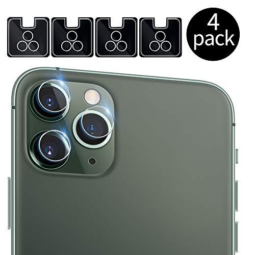 [4 Pack] QHOHQ Camera Lens Protector for iPhone 11 Pro(5.8), iPhone 11 Pro Max(6.5), Tempered Glass Ultra Thin High Definition Anti-Scratch Screen Protector