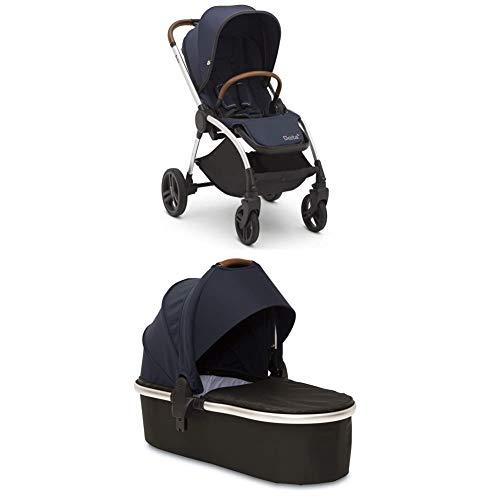 Delta Children Revolve Reversible Stroller And Carriage/Pram Add-On Bundle, Cognac