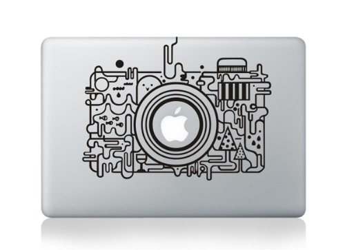 "EpicGadget(TM) Photography Digital Camera Premium Decorative Vinyl Stylish Art Skin Sticker Decal for Apple Macbook Air 11"" Inch Laptop in Retail Package (US Seller!!)"