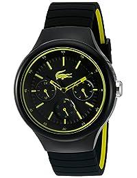 Lacoste Men's 'Borneo' Quartz Resin and Silicone Casual Watch, Color:Black (Model: 2010867)