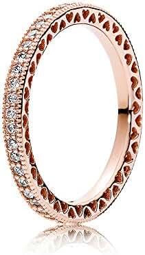 PANDORA Rose Ring Hearts of PANDORA SIZE 7