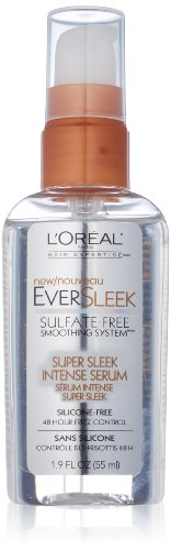 L'Oreal Paris EverSleek Sulfate-Free Smoothing System Super Sleek Intense Serum, 1.9 Fluid Ounce