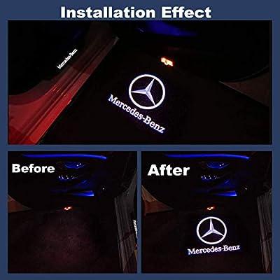 4PCS Car Door LED Light Projector Ghost Shadow Lights Welcome Lamp Door Logo Lights: Home Improvement