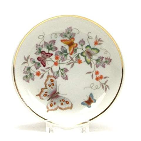 Ring Dish by Avon, Porcelain, Butterflies (Butterfly Jewelry Dish)