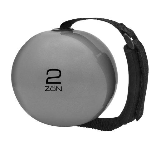 Zon Deluxe Gymnastikball (Silber / Schwarz)