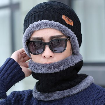 Buy Hat Scarf Cap Neck Warmer Winter Hats for Men Women-Black Online at Low  Prices in India - Amazon.in 124a05cfb53