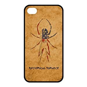 My Chemical Romance Pattern Design Solid Rubber Customized Cover Case for iPhone 4 4s 4s-linda180
