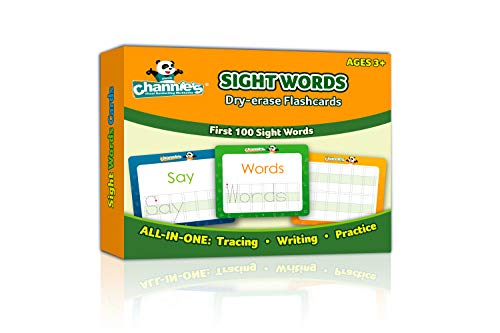 "ry Erase Flashcards for Pre-K Through First Grade Students' to Learn to Trace, Practice &Write their First 100 Sight Words, Ages 3+, 5.5"" x 4.25 "" ()"