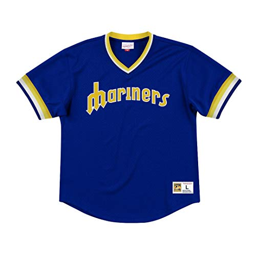 Mitchell & Ness Seattle Mariners MLB Men's Dinger Mesh Jersey Shirt
