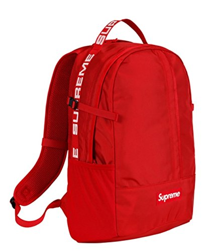 Supreme BackPack RED 18SS ( シュプリーム バックパック レッド 18SS) B07B1TDHP1Red