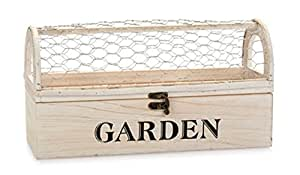 Darice Planter Garden White w/Chicken Wire
