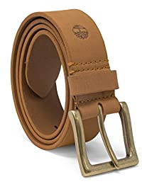 Timberland Cinturón de piel de trigo para hombre, 38 mm
