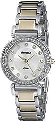Armitron Women's 75/5259SVTT Swarovski Crystal Accented Two-Tone Bracelet Watch