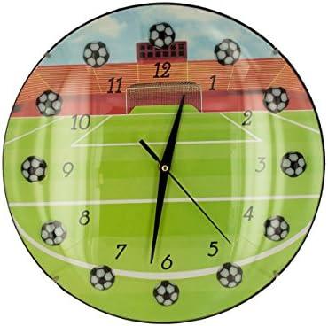 Amazon.com: bulk buys OC677 Soccer Wall Clock, Black, White, Yellow, Green, Red: Home & Kitchen