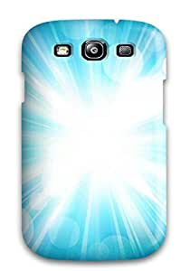 Top Quality Rugged Bright Blue Light Bursts Case Cover For Galaxy S3