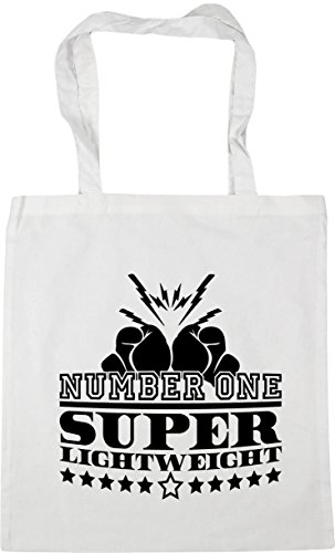 White Lightweight 10 litres Shopping Bag One Beach Super Number HippoWarehouse Tote Gym x38cm 42cm wOFtP