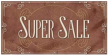 8x4 Super Sale CGSignLab Victorian Card Heavy-Duty Outdoor Vinyl Banner