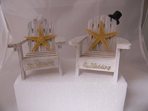 Wedding Reception Adirondack Chairs Beach Real Starfish Cake Topper White